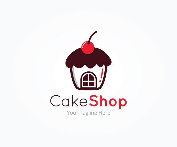 、ロゴ、ケーキ屋さん