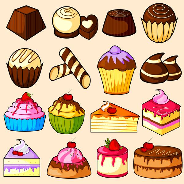 main gâteau Dessin