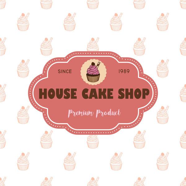 gâteau étiquettes boutique