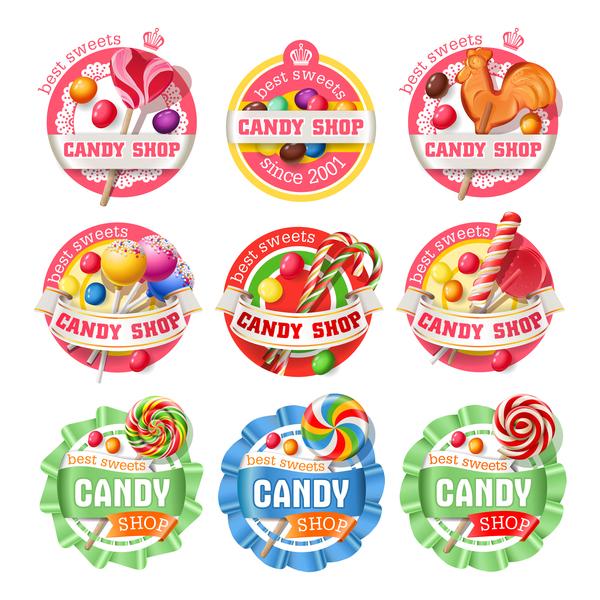 Süßigkeiten shop Etiketten