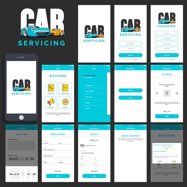 、アプリ、車、サービス