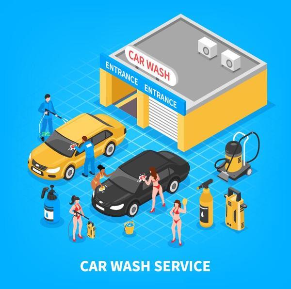 Verksamhet tvätta service Bil