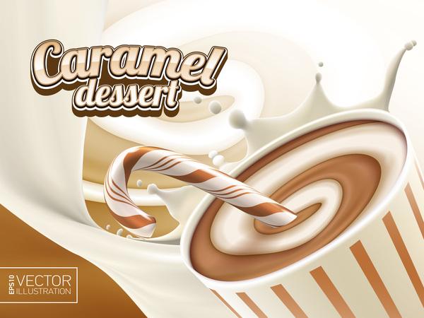 poster dessert caramel