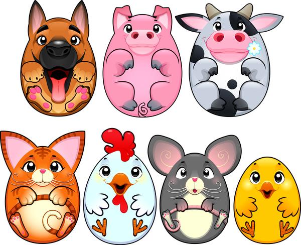 uovo forma cartone animato Animale