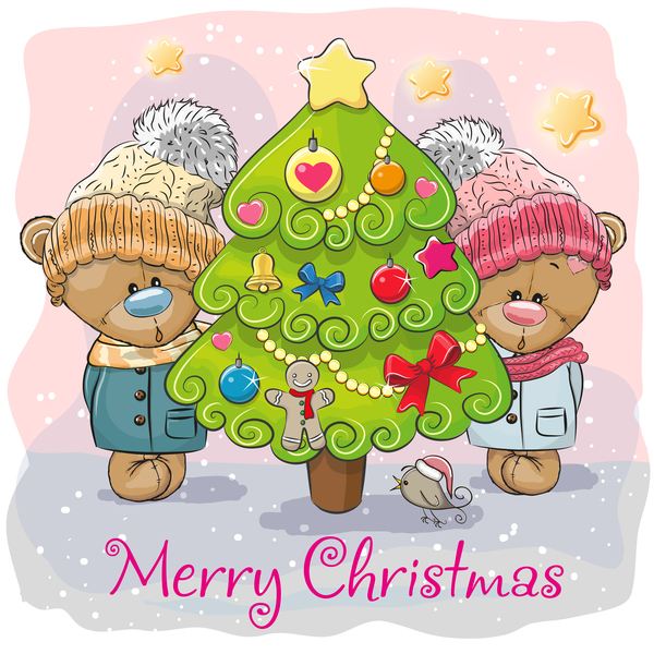 xmas träd tecknad jul