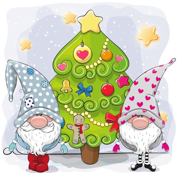 xmas Noel bande dessinée arbre