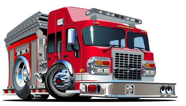 truck fire cartoon