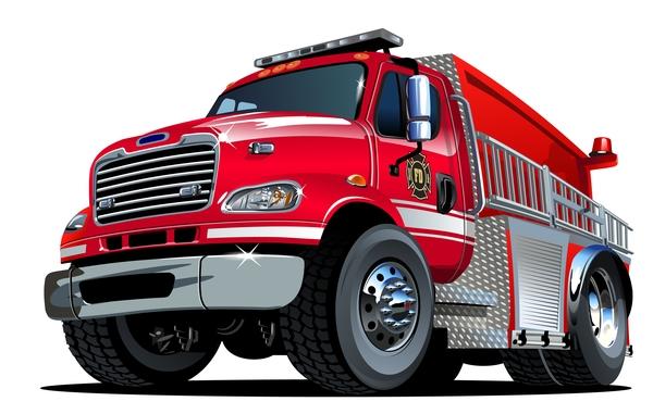 漫画 消防 トラック