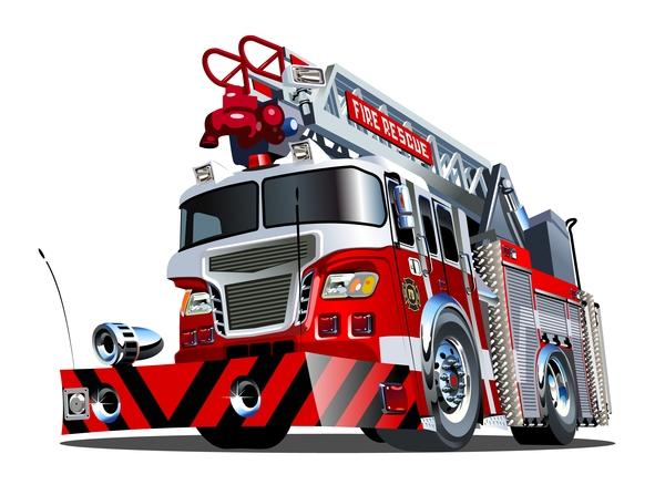 、漫画、火、トラック