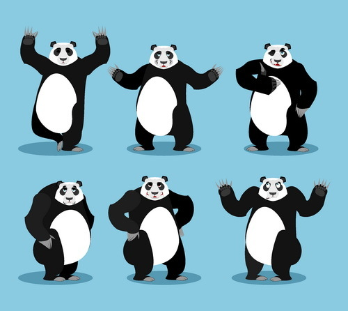 witzig panda cartoon