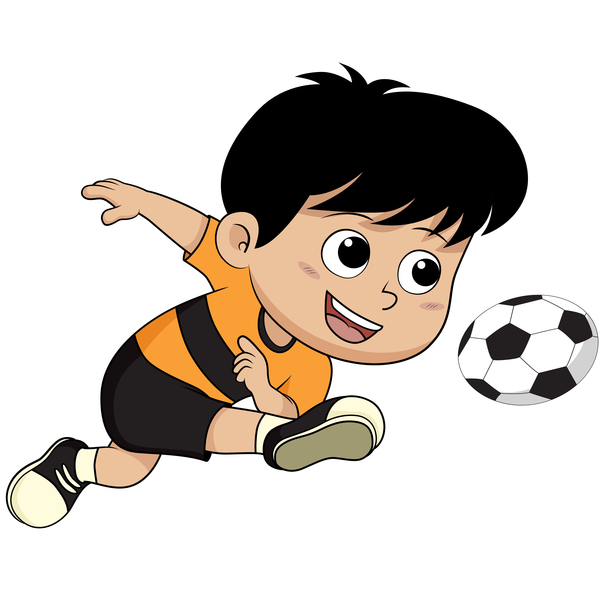 Fotboll Tecknad