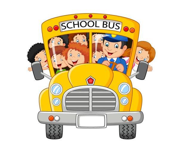 tecknad studenter school buss