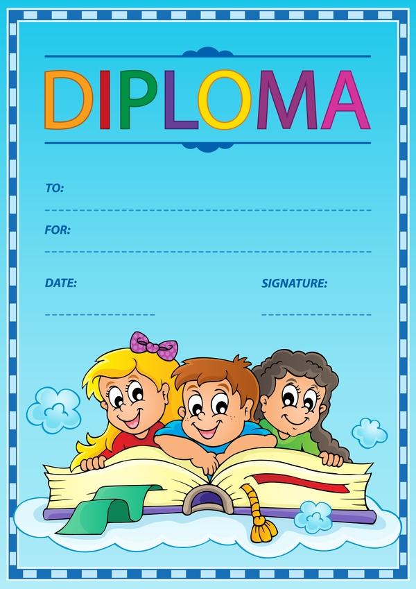 Thema Diplom cartoon