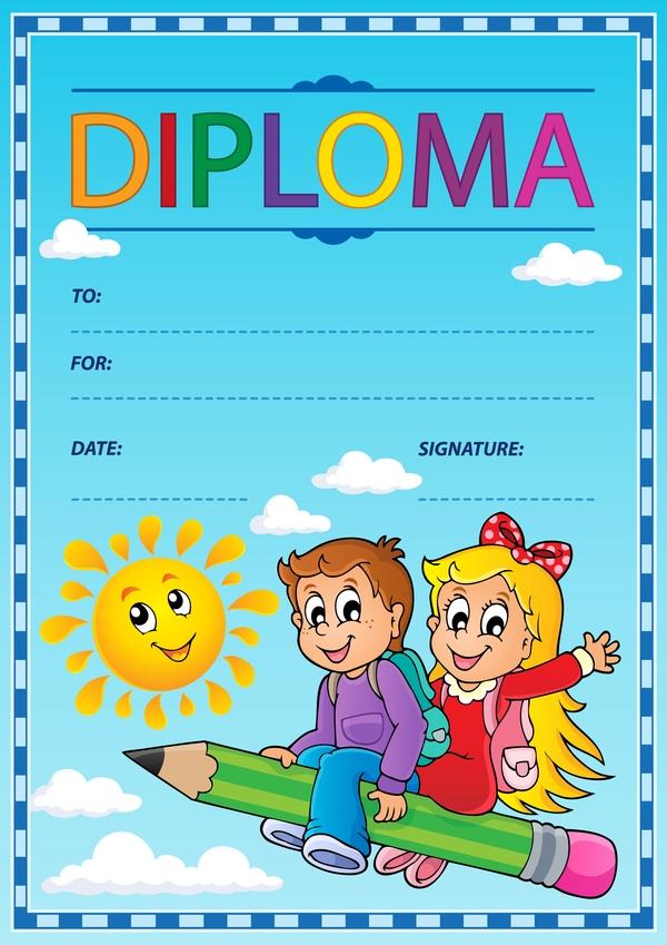 tema diploma cartone animato