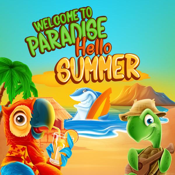 estate cartone animato