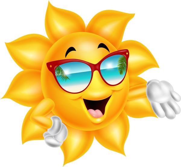 、漫画、顔、笑顔、太陽