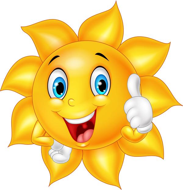 viso sorridente Sole cartoni animati