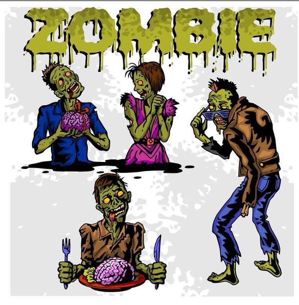 zombie tecknad