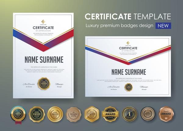 Zertifikat premium Luxus Abzeichen