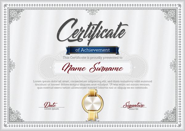 grå certifikat