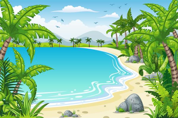 tropicale panorama costiero Affascinante