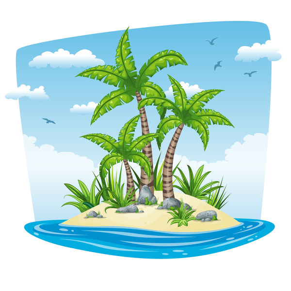 、魅力的な、沿岸、風景、熱帯
