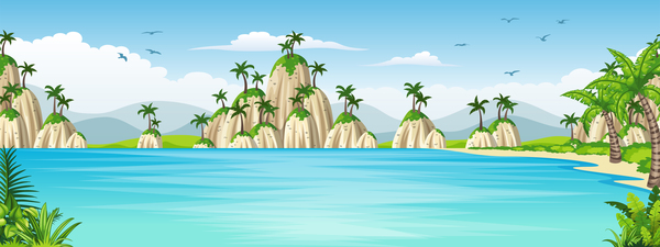 tropische Landschaft Küste Charmant