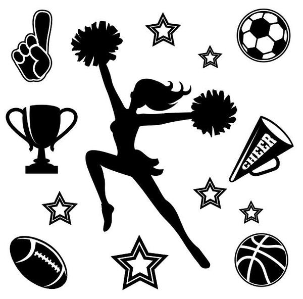 sports Pom-pom girl fille concurrence