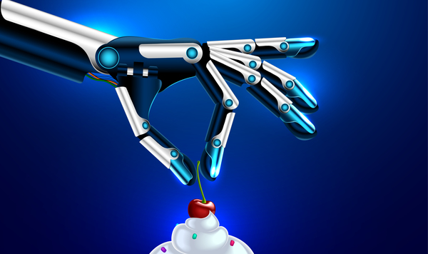 robot main glace creme cerise