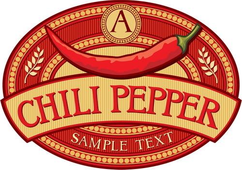 etikett Chilipeppar