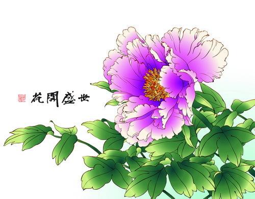 peonia mano Disegno Cinese