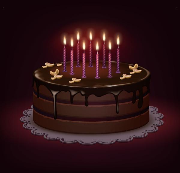 tårta Födelsedag choklad