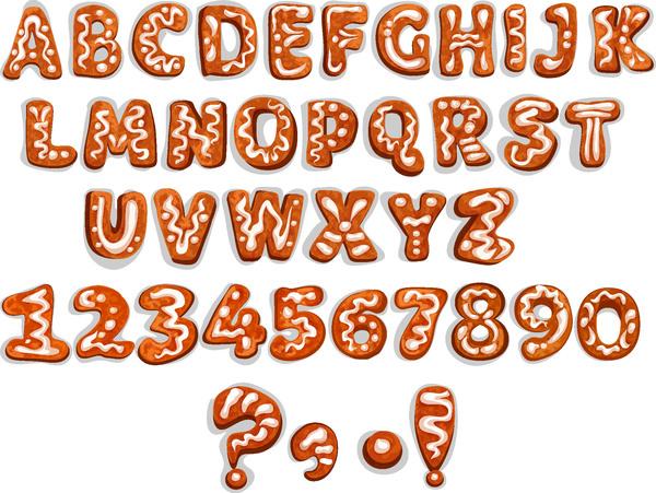 cioccolato biscotti Alfabeto
