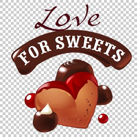 süß Schokolade label dessert
