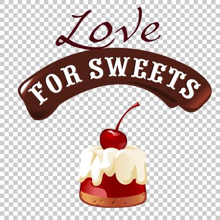 etichetta Dolce dessert cioccolato