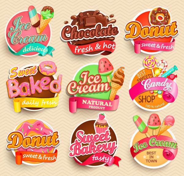 gelato etichette cioccolato