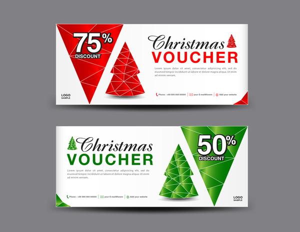 Weihnachten Gutschein coupon card
