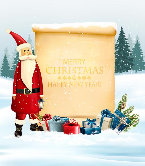 santa papper jul Gammal Claus