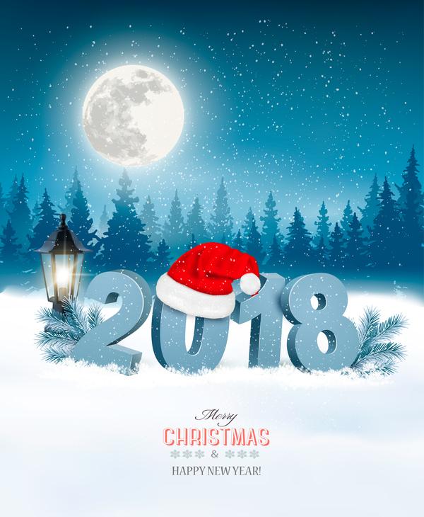 、2018 年にクリスマス、帽子、サンタ