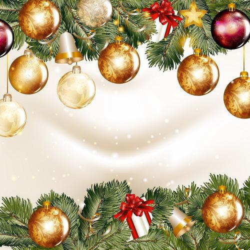 Rami palle Natale abete