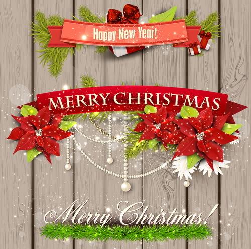 Natale legno banner