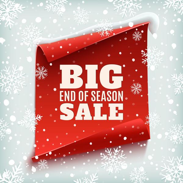 Weihnachten Verkauf rot poster Papier gros banner