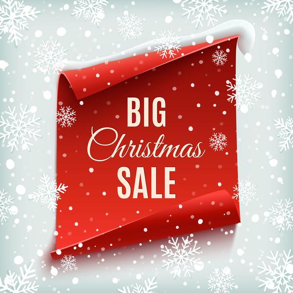 vendita rosso neve Natale grande carta