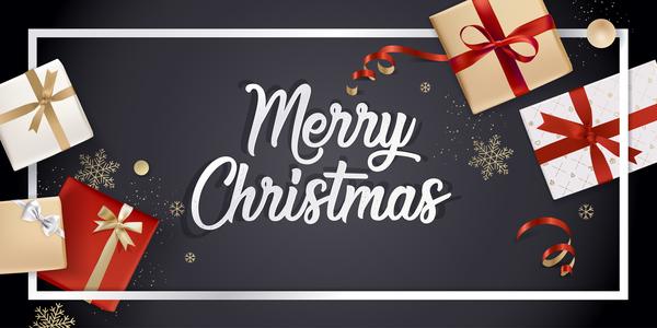 Svart jul gåva Boxs