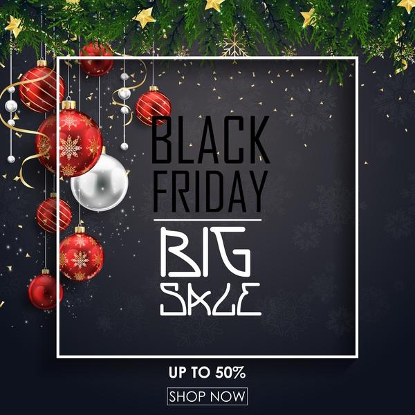 Weihnachten Verkauf Schwarz gros Freitag