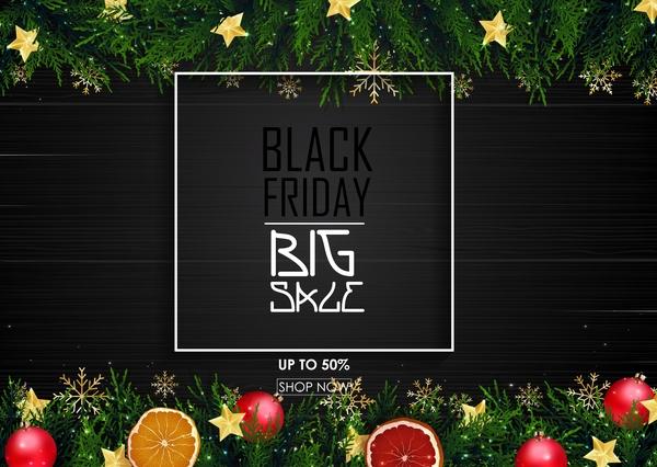 venerdì vendita Nero Natale grande