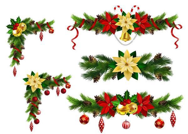 Weihnachten Ecke dekorative Borten