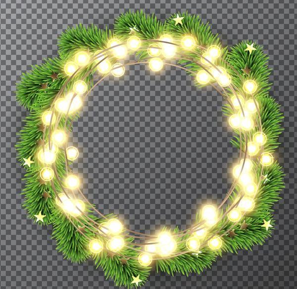 wreath sapin Noel lumière decoration ampoule