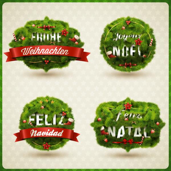 jul grön etiketter