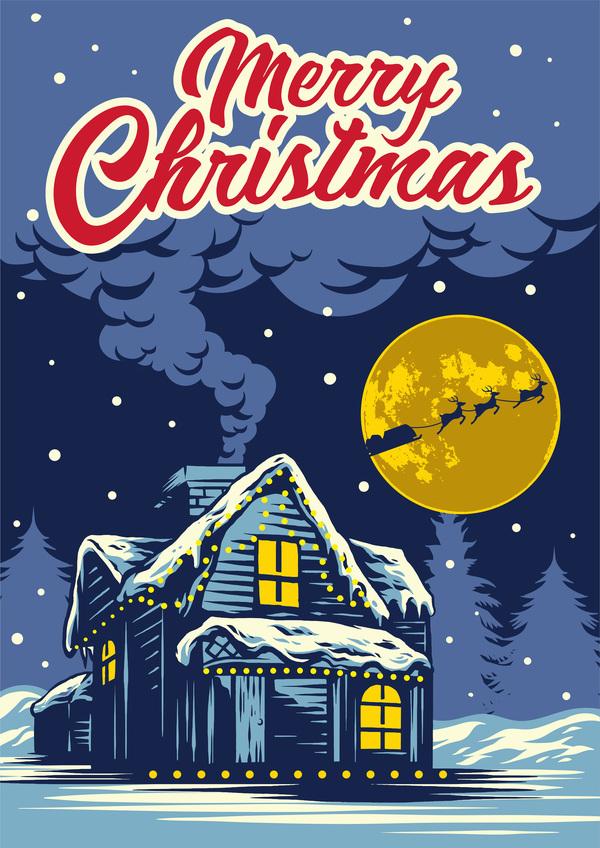 natt kort jul hälsning
